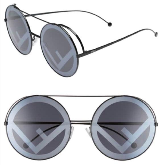 6230ce2f6bcd5 Fendi Run Away 63mm Round Sunglasses
